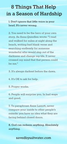 8 things that help in a season of hardship