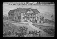 Cataract House R.M. Clapp's CURTAIN  FIXTURE MANUFACTORY, Vergennes, Vermonnt