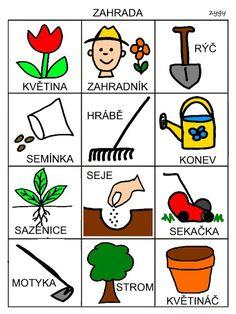Pro Šíšu: Komunikační obrázky Spring Activities, Activities For Kids, Aurora, Montessori, Preschool, Language, Jar, Teaching, Education