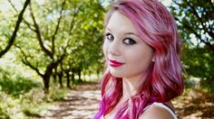 girl with pink hair HD Wallpaper -  2560x1440 Wallpaper