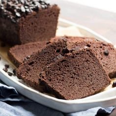 An easy low carb coconut flour pound cake made with chocolate and baked in a loaf pan. It's great as an afternoon snack or dressed up with ice cream.