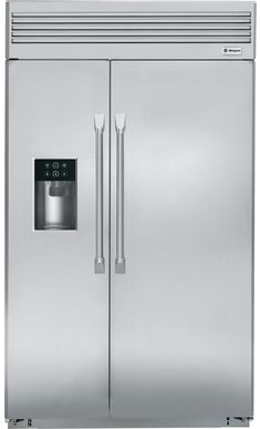 """GE Monogram ZISP480DHSS 48"""" Built In Side by Side Refrigerator 