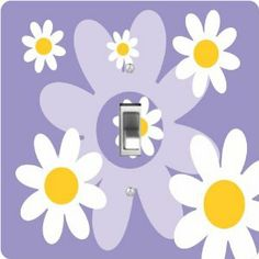 """Rikki KnightTM Lavender Daisies Retro 60's Design - Single Toggle Light Switch Cover by Rikki Knight. $13.99. The Lavender Daisies Retro 60's Design single toggle light switch cover is made of commercial vibrant quality masonite Hardboard that is cut into 5"""" Square with 1'8"""" thick material. The Beautiful Art Photo Reproduction is printed directly into the switch plate and not decoupaged which make these Light Switch Plates suitable for use in any room in the office, home..."""