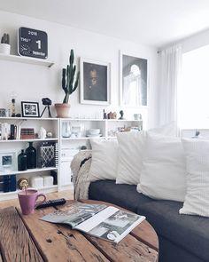 Ikea 'Billy' bookcases @copenhagenboheme