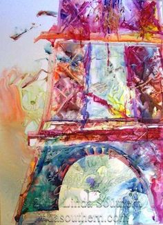 This paininting is Parisian Dreams by Houston artist, Linda Southern.  I met her and saw this painting last year at the Louisiana International Watercolor Exhibit.  It was my favorite and it won an award.