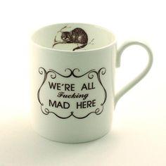 Alice Quote Cheshire Cat Mug Bone China Mug Alice