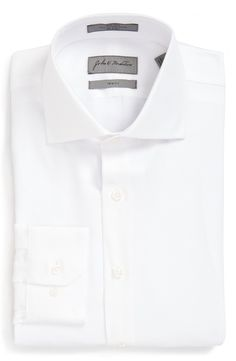 Free shipping and returns on John W. Nordstrom® Trim Fit Non-Iron Solid