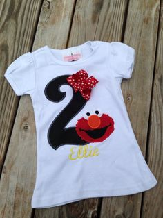 Sizes 12 months 18 months 24 months Numbers (Please ask about bigger sizes) Please provide correct spelling of name, size, age First Birthday Shirts, Elmo Birthday, Baby Girl Birthday, Dinosaur Birthday, 2nd Birthday Parties, Dinosaur Party, Happy Birthday, Elmo Party, Mickey Party