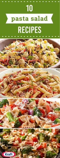 10 Pasta Salad Recipes – After checking out this collection of flavorful pasta salads, you're sure to be convinced that these recipes are ideal for rounding out a cookout menu! Spring potlucks and summer barbecues wouldn't be complete without a tasty side dish.