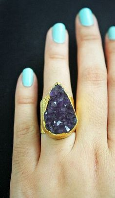 Druzy Ring - Amethyst | Kei Jewelry