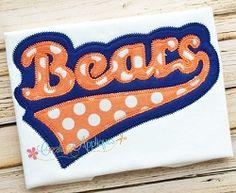 Bears Double Vintage Stitch Applique - 6 Sizes!   Sport Teams   Machine Embroidery Designs   SWAKembroidery.com Creative Appliques