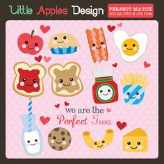 Perfect Match Clipart - great designs for DIY Valentine's Day cards and crafts.