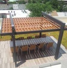 Backyard pergola modern shade structure 24 ideas for 2019 Wooden Pergola, Outdoor Pergola, Backyard Pergola, Pergola Carport, Steel Pergola, Cheap Pergola, Outdoor Fire, Outdoor Rooms, Outdoor Furniture
