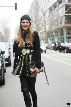 Anna Dello Russo. Black is Back