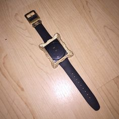 Swatch watch Black watch with golf frame detail. Limited edition. Never worn. Authentic. Swatch Jewelry