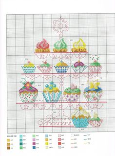 Douceurs gourmandises au point de croix by Véronique Enginger http://www.ibuyla.com/Product/8979183315/Foreign_cross-stitch_embroidered_drawings-kitchen-douceur_et_Gourmandise_beautiful_cake_145p/ (USD4.52)