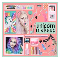 """""""Unicorn Beauty"""" by beanpod ❤ liked on Polyvore featuring beauty, Rare London, Lulu in the Sky, PBteen, Elegant Touch, Kat Von D, Essie, Jin Soon, Deborah Lippmann and Sephora Collection"""