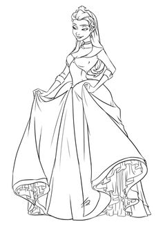 Princess Amber by JessDeaton on DeviantArt Frozen Coloring Pages, Barbie Coloring Pages, Disney Princess Coloring Pages, Disney Princess Colors, Cartoon Coloring Pages, Coloring Book Pages, Colorful Drawings, Colorful Pictures, Catty Noir