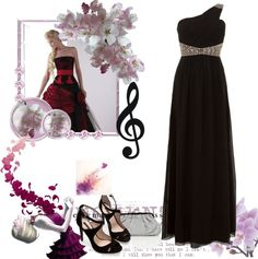 """Black and White Ball"" by elonicki ❤ liked on Polyvore"