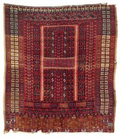 Lot 12. Saryk ensi, Central Asia, West Turkestan. 168 x 151 cm. Mid 19th century. Rippon Boswell Major Spring Auction 31 May 2014