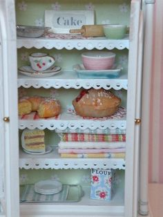 Miniature kitchen dream hutch. $150.00, via Etsy.