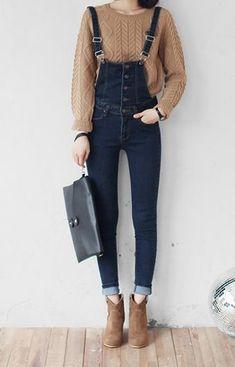 My Style    Sweaters, Overalls, Dark Denim    Fashion