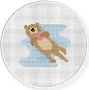 Otter Love Cross Stitch Pattern - via @Craftsy