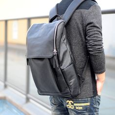 Aliexpress.com   Buy New arrival PU handbag backpack school student travel male  laptop bags 943bbf71a6f93