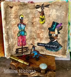 Maura's Musings Amelie, Steampunk, Challenges, Victorian, Art Journaling, Mixed Media, Designers, Painting, Timber Wood