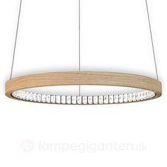 Naturlig LED hængelampe Libe Round, 90 cm