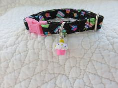 Cupcake Cat Collar Bell  Cat  Breakaway Collar Custom Made by graciespawprints on Etsy