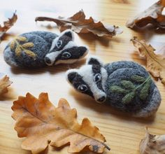 I just added these badger brooches to my etsy shop. I will be updating my shop more often in the near future so perhaps you'll find some unique Christmas gifts there  You can find the direct link to my shop in my profile. Etsy.com/shop/Revonvilla #needlefelting #felting #woolen #wool #etsy #etsyseller #etsyshop #handcraft #artsandcrafts #badger #brooches #brooch #etsyhandmade #naturelovers #natureinspired #mäyrä #rintaneula #luonto #luontoinspiroi #neulahuovutus #huovutus #käsityö