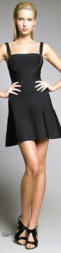 Herve Leger ● Black fit & flare dress