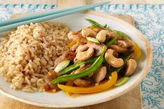 Pork, Snow Pea & Mushroom Stir-Fry for Two Recipe - Healthy Living Kraft Recipes Kraft Recipes, Pork Recipes, Asian Recipes, Cooking Recipes, Asian Foods, Recipies, What's Cooking, Oriental Recipes, Oriental Food