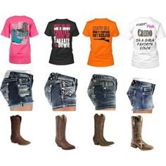 i love cut offs and cowgirl boots. add a random graphic tee and WALA. cute outfit. i do this all summer. cause im lazy all summer. but i have a need to be cute all the time so this totally works for me
