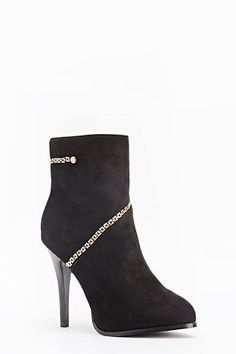 Womens Ladies Black Faux Suede High Heel Shoes Ankle Boots Size UK 4,5,7,8 New  Click On Link To Visit My Ebay Shop http://stores.ebay.co.uk/all-about-feet  Useful Info:  - Standard Size - Standard Fit - By Style Shoes - Black In Colour - Heel Height: 5 Inches - Platform: 1 Inch  - Metal Gold Chain Detail - Inner Side Zip Fastening - Faux Suede Upper - Textile Lining  #boots #ankleboots #shoes #blackboots #black #highheel #highheels #fashion #footwear #forsale #womens #ebay #ebayshop…