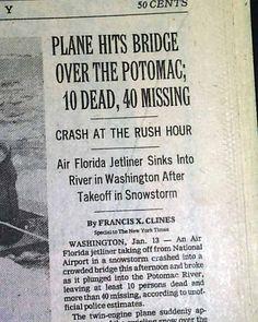 Air Florida Flight 90   AIR FLORIDA Flight 90 Washington D.C. POTOMAC RIVER Disaster 1982 NYC ...