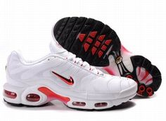 cheap for discount 4d602 96366 Air Max TN Maschi Sports in esecuzione bianco rosso