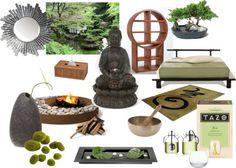"""Zen Inspired Bedroom Design"" by sabinestephens on Polyvore"