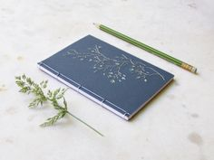 Tree Branch. Embroidered A6 Notebook. Nature Notepad. Floral