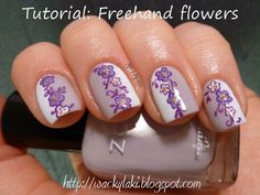 Wacky Laki: Tutorial Tuesday: Freehand Flowers