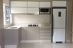 Cozinha em L: 70 modelos funcionais para incorporar no seu projeto Kitchen Cabinets Decor, Kitchen Room Design, Kitchen Cabinet Design, Modern Kitchen Design, Home Decor Kitchen, Interior Design Kitchen, Kitchen Ideas, Kitchen Furniture, Modern Kitchens