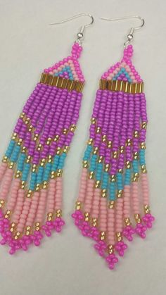 Handmade Native American Beaded Earrings   http://www.etsy.com/ca/shop/creeproductions?ref=seller_info
