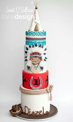 Cowboys & Indians cake by Janet O'Sullivan Cakes