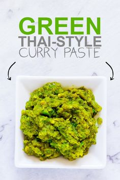 Easy, Thai-Style Red, Yellow and Green Curry Pastes