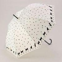 고양이 장우산 - 도트 화이트 ※ 디자인 우산, 긴우산 추천