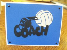 Volleyball Cricut Card Using Sports Mania Cartridge | PS I Love You Paper Arts and Crafts