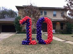 Tenth birthday balloons Birthday Balloons, Birthday Fun, Globes