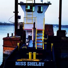 """Mini-tugboat """"Miss Shelby,"""" Sneads Ferry, NC  """"For the goodman is not at home, he is gone a long journey"""" (Proverbs 7:19)"""