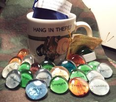 Military  Soldier Stone Bag  Let words Inspire by TarotFromHeaven, $20.00